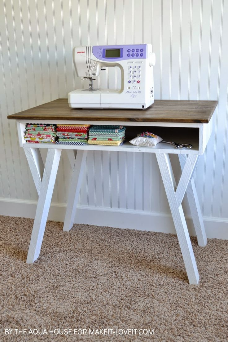 Make your own Farmhouse Modern Desk...with an open front storage cubby! --- Make It and Love It