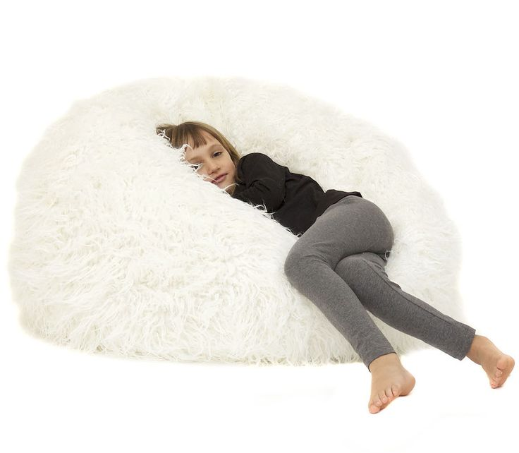 Your Kids Will Love Snuggling Into This Plush Faux Fur Beanbag The Snow White Junior