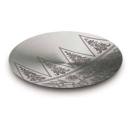 Batik Platter, Ku - This pewter platter showcases motifs from batik, a craft that has long been associated with Malaysia. #pewter #RoyalSelangor