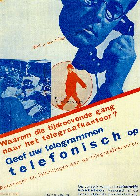 Piet Zwart - Send Your Telegrams by Phone [trans.] (1932)