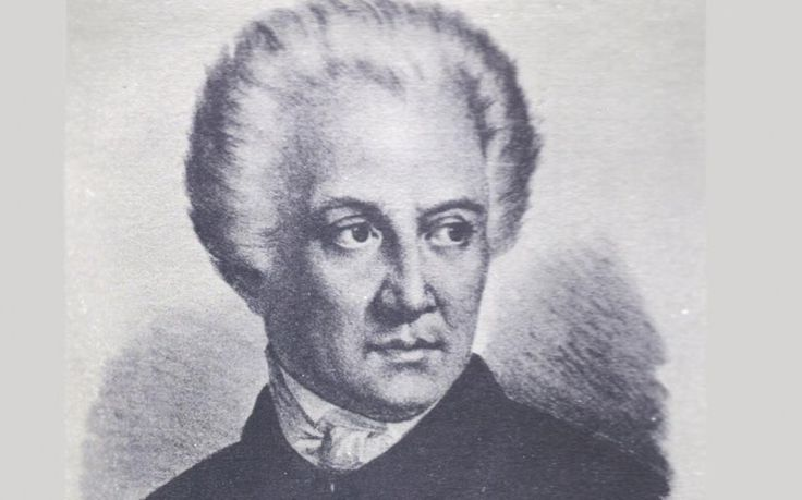 Dionysios Solomos, the poet of the Greek national anthem.