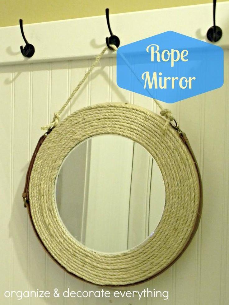 DIY Rope Mirror DIY Mirror DIY Home DIY Decor LAUNDRY ROOM