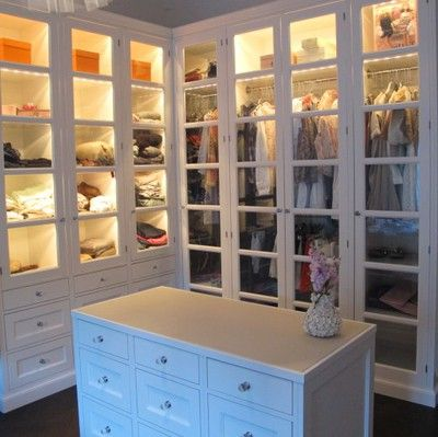 "Can I have this?  Why is it, when we are young and creating our lists of ""I WANT THAT"" closets like this are never on it.  But now?  I'd give up a lot to have a closet like this......"