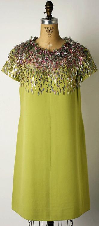 Cocktail Dress  Marc Bohan for Dior, 1966  The Metropolitan Museum of Art