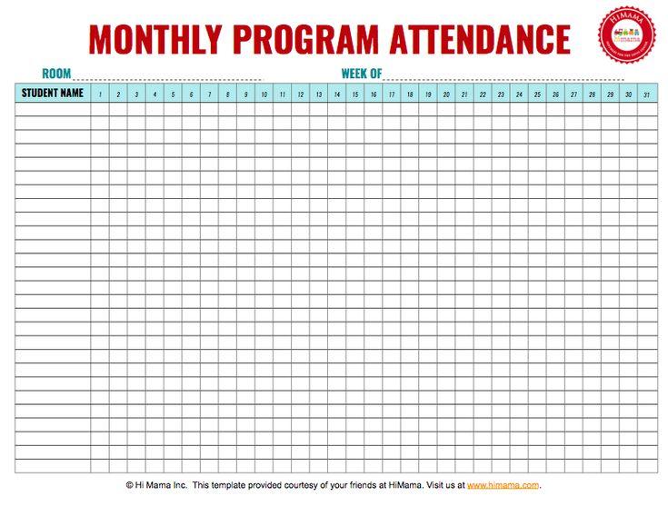 The 25+ best Sign in sheet ideas on Pinterest Preschool sign in - attendance chart template