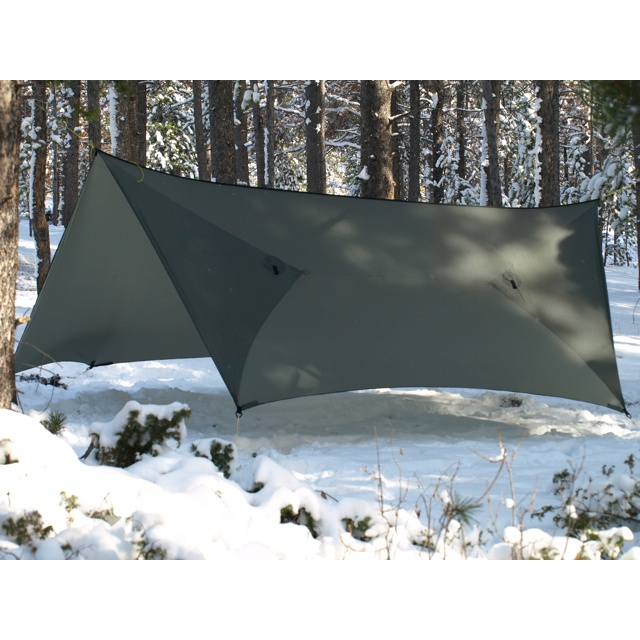Construction Tarp Shelters : Warbonnet outdoors superfly tarp with permanent doors