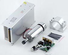 CNC 400W Motor del Eje + Controlador Pwm Mach 3 + montaje + 48V fuente de alimentación Grabado