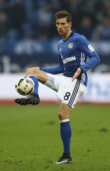 Leon Goretzka of Schalke runs with the ball during the Bundesliga match between FC Schalke 04 and FC Ingolstadt 04 at Veltins-Arena on January 21, 2017 in Gelsenkirchen, Germany.