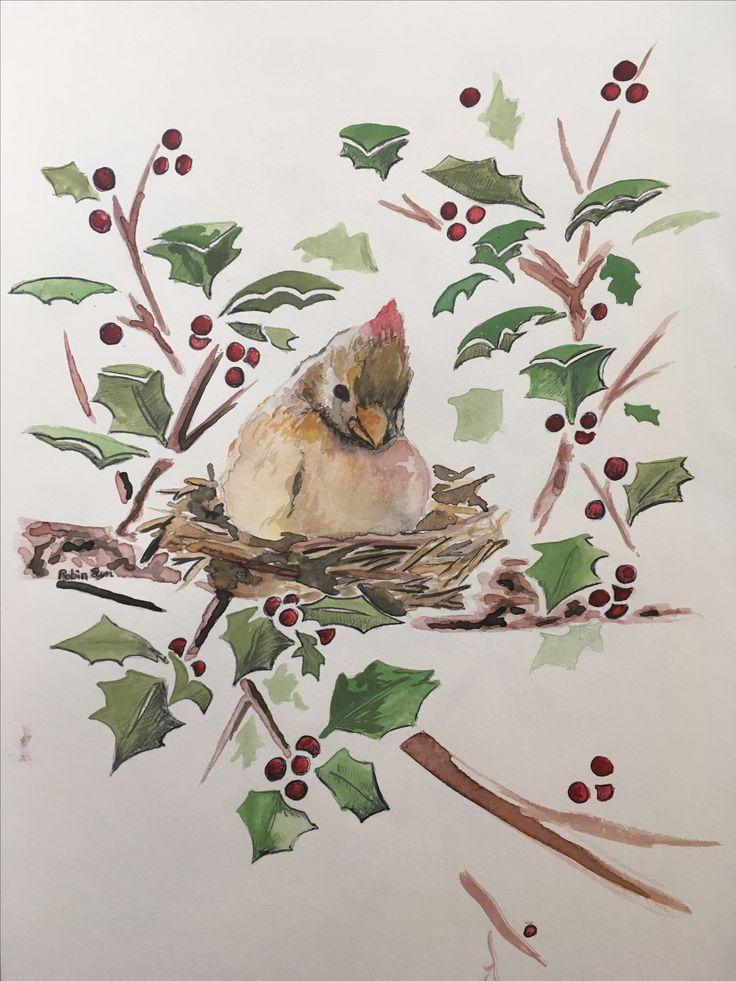 #bird #cardinals #red #redbird #holly #hollytree #chineseink #chineseinkpainting #painting #cristmas #card #tree #bush #hollyberry #hallyberrys #birdintree #robin #lyn #robinlyn #bradfield #actio #art #studio #actioartstudio #robinlyn #wishes #wish #ladybug #ladybugs #wishes #holdontoyourdreams #hollytree