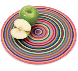 Colorful Rings Cutting Board