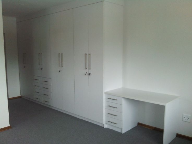 Pure White melamine BIC with dresser unit