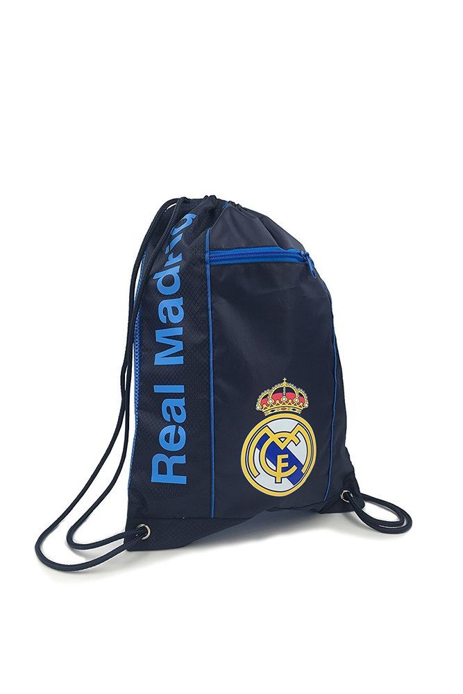 Real Madrid Cinch Bag Sack Soccer Book  Backpack Authentic Official navy Blue #Icon #RealMadrid