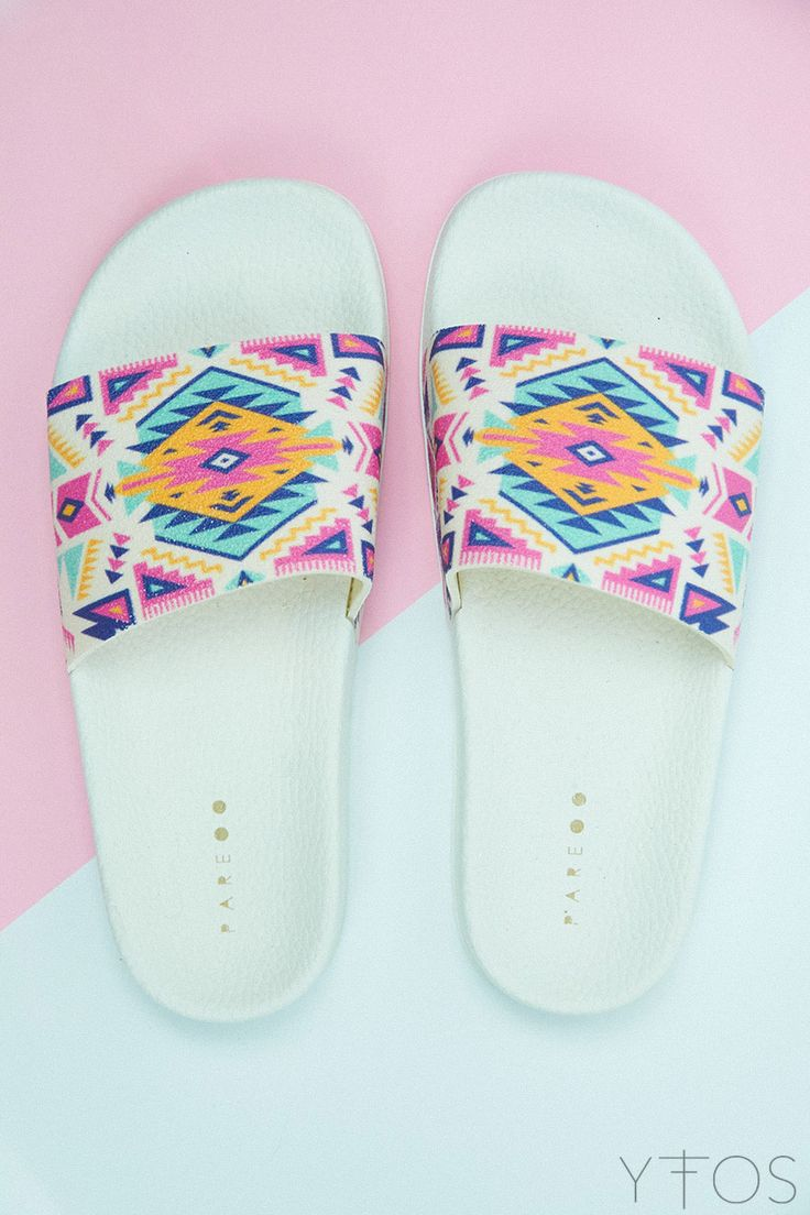 Yfos Online Shop | Shoes | Aztec Slider Sandals by Pareoo