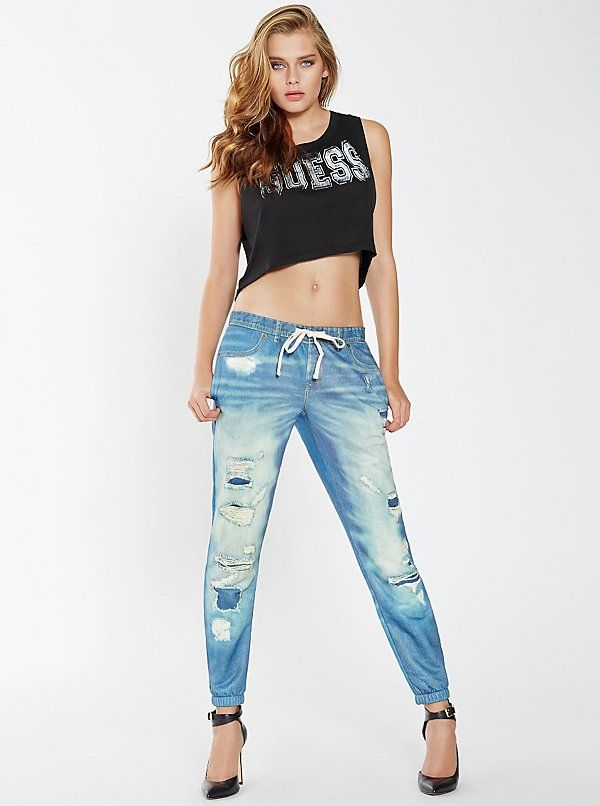 Beautiful Ideas About Denim Joggers Outfit On Pinterest  Denim Joggers Joggers