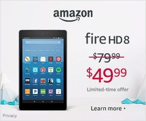 Holiday Deals – Save $30 on Fire HD 8 – was $79.99 – now $49.99. Limited-time offer – A2Z Store