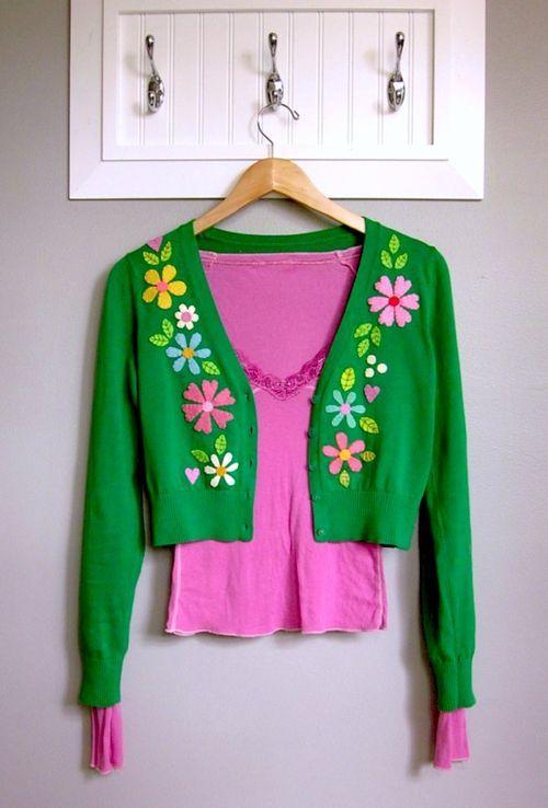 Sweeten Your Sweater with felt flowers tutorial by Lori Marie.