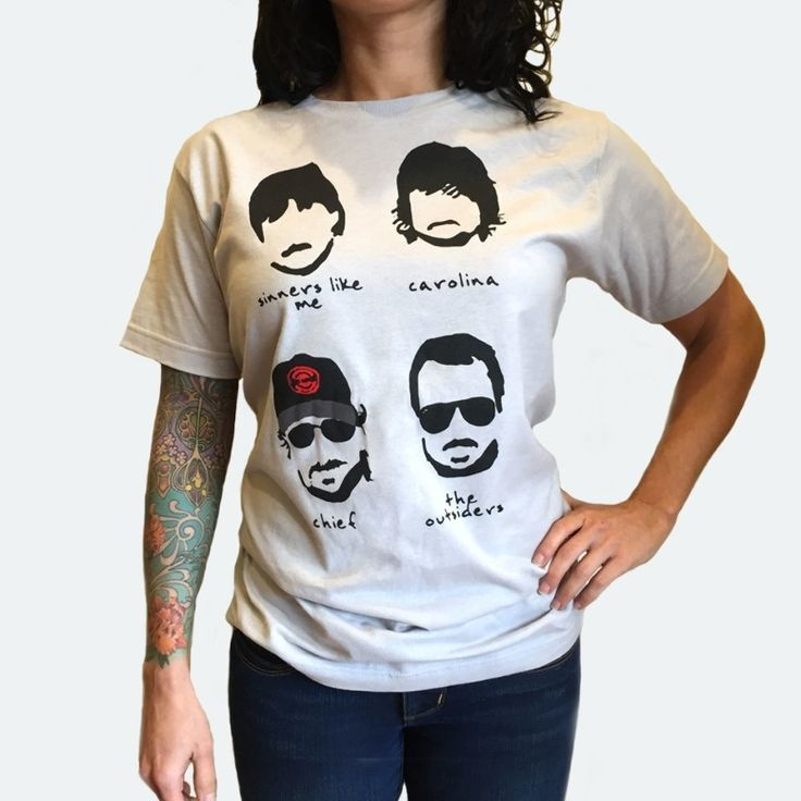 The Eras of Eric Church  Silver tee with chest graphic and blank back. 100% pre-shrunk cotton. Unisex sizing.