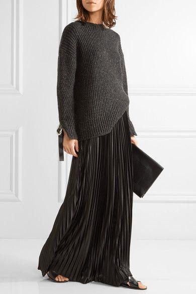 By Malene Birger - Doha Pleated Charmeuse Maxi Skirt - Black