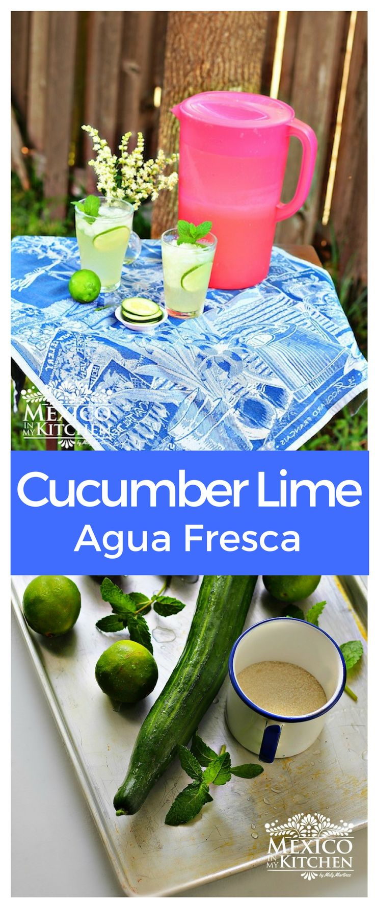 Cucumber-Lime agua fresca is among some of the popular drinksfor those hot summer days. #drinks #mexican #food