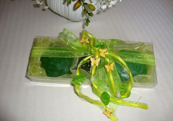 Elegant Emerald Soap Gift Set Handmade Glycerin Soap Fine