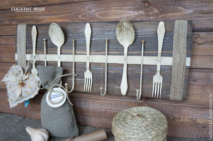 """Купить Вешалка для полотенец """"Кантри"""" - коричневый, вешалка для кухни, Вешалка для полотенец, крючки для кухни, крючки"""