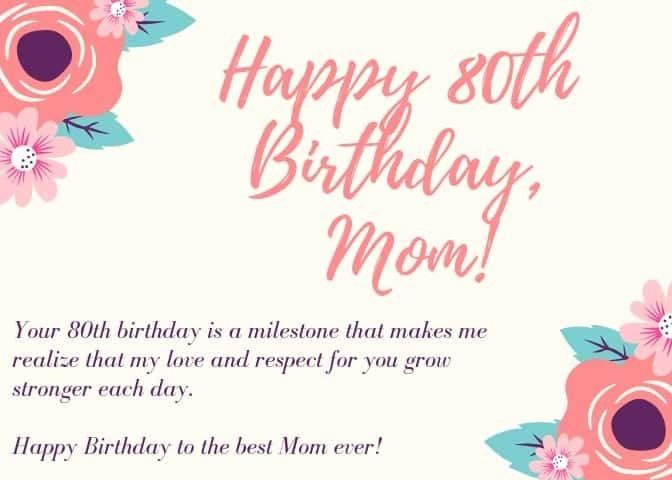 80th Birthday Wishes Perfect Messages Quotes To Wish A Happy 80th Birthday Happy 80th Birthday Birthday Message For Mom Birthday Wishes For Mom