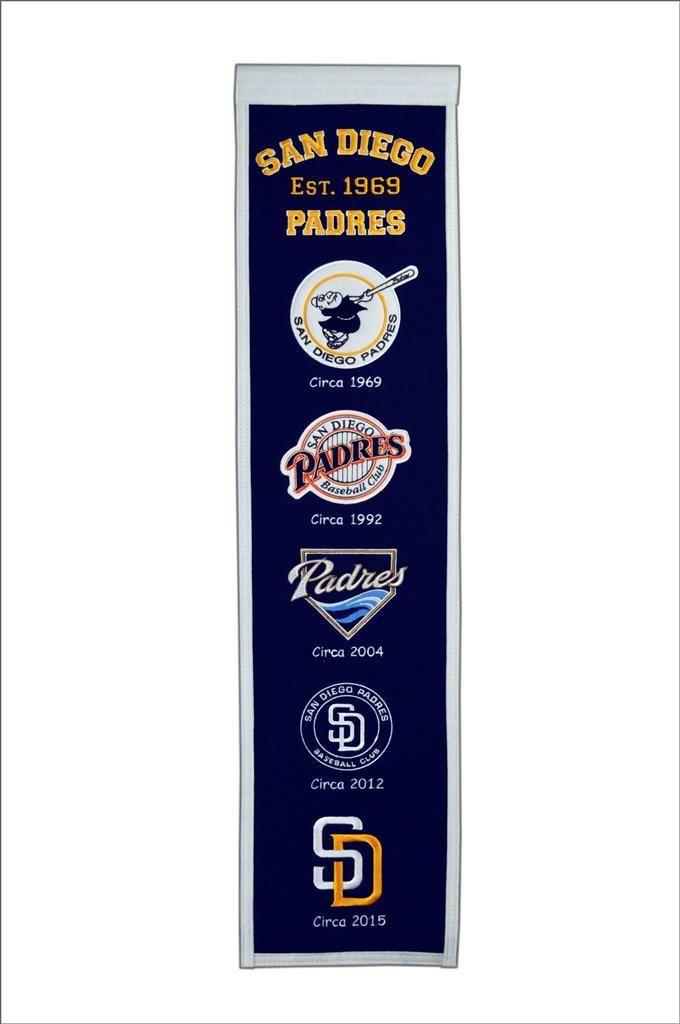 San Diego Padres Heritage Banner San Diego Padres Padres Baseball San Diego