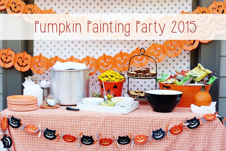If you have been reading this blog for the past couple years then you know I am a HUGE fan of our annual Pumpkin Painting Party. It's my favorite. Like I can talk about it any day of the week, any week of the year. Basically when I am old and my kids are grown, this party will still exist and...