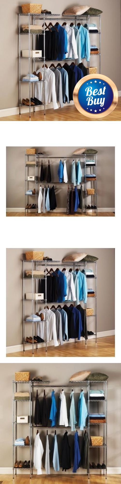 Closet Organizers 43503: Closet Organizer Storage Cabinet Rack Portable Clothes Wardrobe Hanger Shelves -> BUY IT NOW ONLY: $139.99 on eBay!
