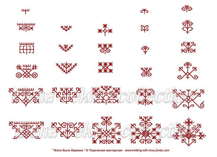 латышские-варежки-вязание-варежек-схемы-для-варежек-жаккардовый-узор-latvian-mittens-knitting-ornament-jacquard-pattern