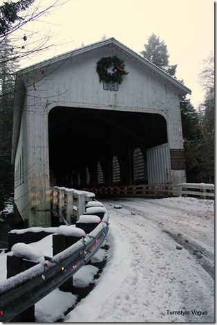 Covered Bridge in Oregon.  Check out the other snowy pictures.