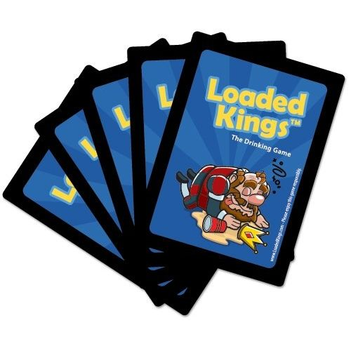 Loaded Kings Playing Cards - Classic 'Loaded Kings' drinking game with rules printed on each card.