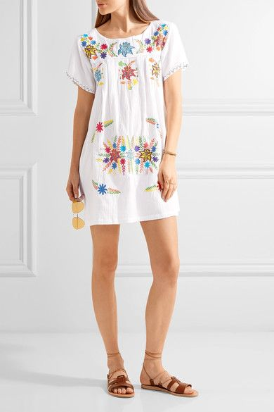Sensi Studio. White cotton Slips on 100% cotton Hand wash These pieces are hand-embroidered and therefore may differ from that pictured ImportedSmall to size. See Size & Fit notes.