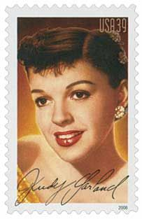 Famous for her husky, trembling singing voice, Judy Garland is the twelfth honoree in the United States Postal Service's Legends of Hollywood Series.