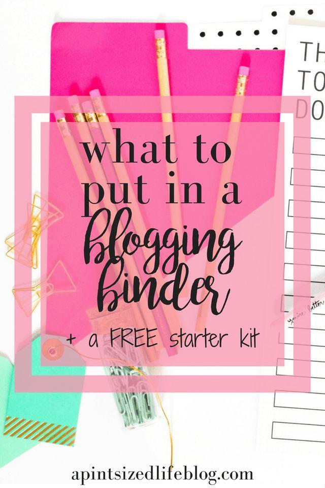 Blogging binder Pinterest graphic
