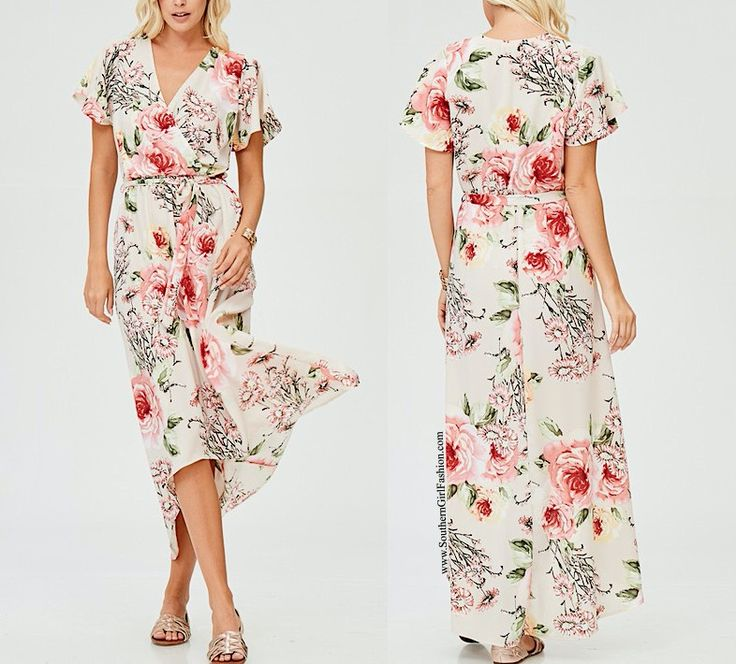 SOUTHERN GIRL FASHION  Floral Maxi Dress Printed High Low Long Draped Wrap Gown  | eBay