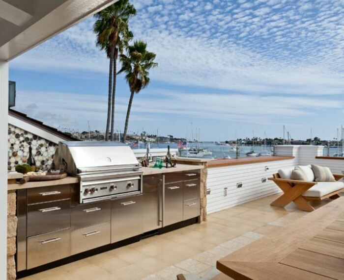 Intrigued In Making The Outdoor Kitchen Area Begin Take A Look At Some Of The Complying With Design Motivation Outdoor Bbq Area Outdoor Bbq Coastal Interiors