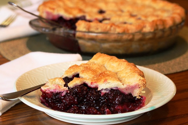 Blackberry Pie. Pie crust has fat in it. Holiday eating pies, fall.