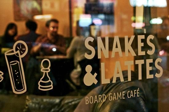 Check out why our President loves Snakes and Lattes... when it's games night he stays latte!