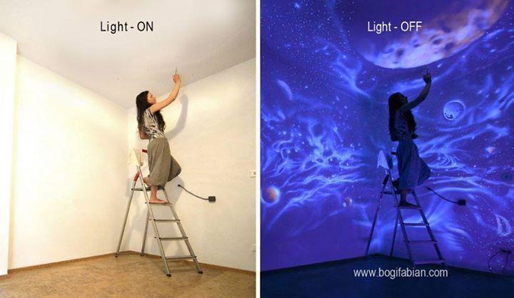 glow paintings (looks like blacklight)