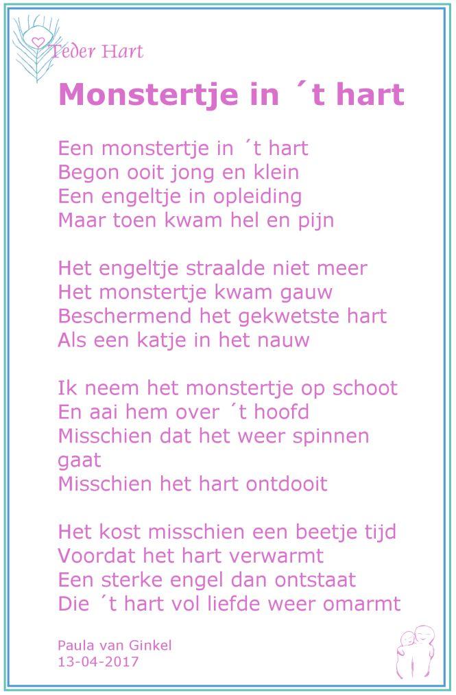 #heling #gekwetst hart #gedicht #monstertje #Teder Hart