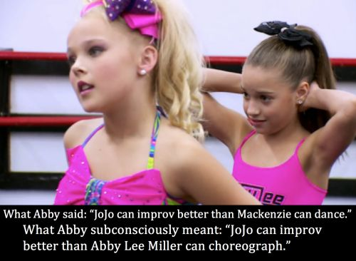 dance moms confessions TRUE THO