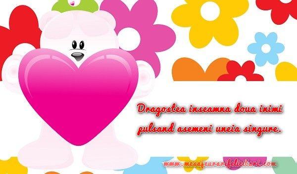 Dragostea inseamna doua inimi pulsand asemeni uneia singure