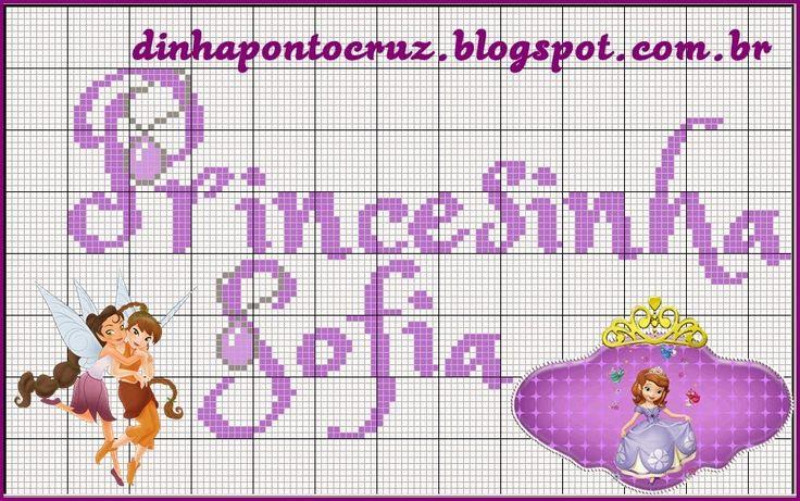 Salve o monograma completo aqui! http://dinhapontocruz.blogspot.com.br/2015/01/monograma-princesinha-sofia.html