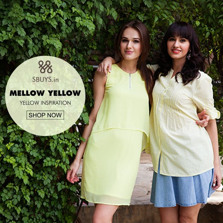 Look #stunning in #yellow #clothing.. #Shop from >>> http://www.sbuys.in/women-clothes/collection/style/mellow-yellow.html