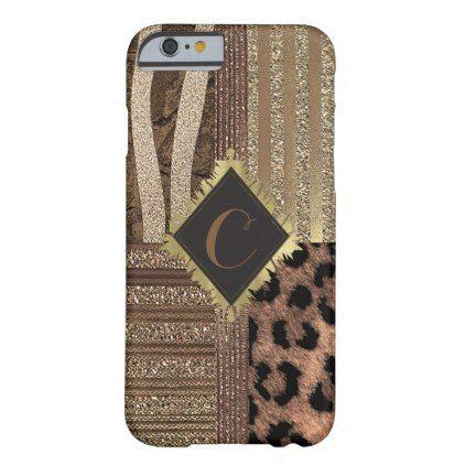 Lioness Safari Chic Jungle Glam Modern Sparkle Barely There iPhone 6 Case - gold glitter style stylish unique