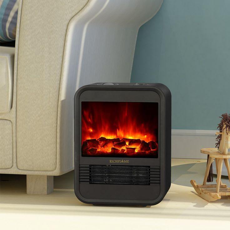 RICHFLAME Ada 1250W Electric Fireplace Heater $59.99!