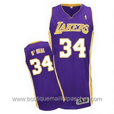 maillot nba pas cher Los Angeles Lakers O`Neal #34 Pourpre mesh tissu 22,99€