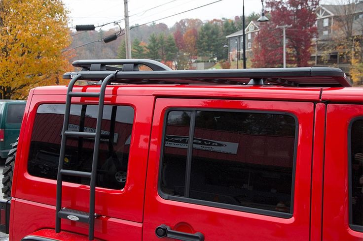 Maximus-3 Roof Rack - Short Platform with Side Ladder and Back Rail