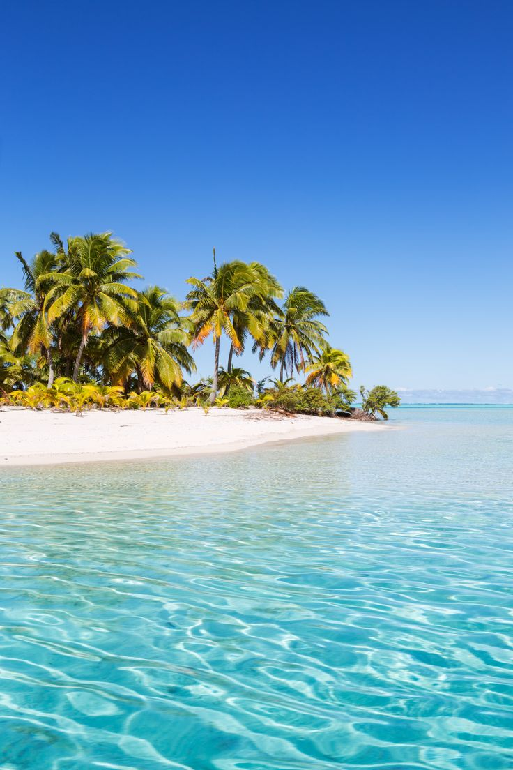One Foot Island Beach, Cook Islands. Also called Tapuaetai, One Foot Island is exactly the place you want to be if you're looking for miles of secluded beaches.